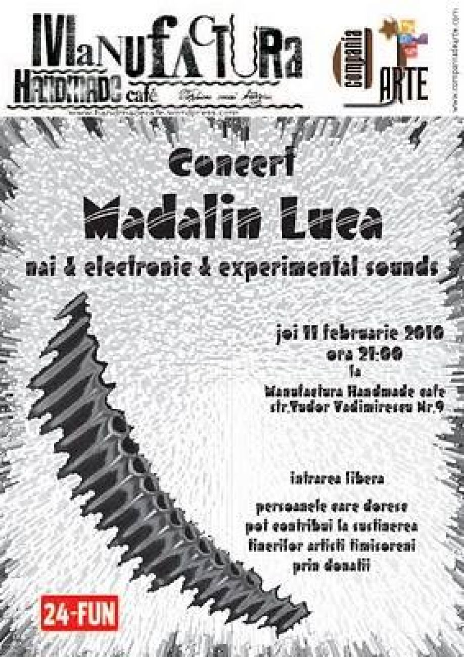 Concert Madalin Luca nai & electronic & experimental sounds