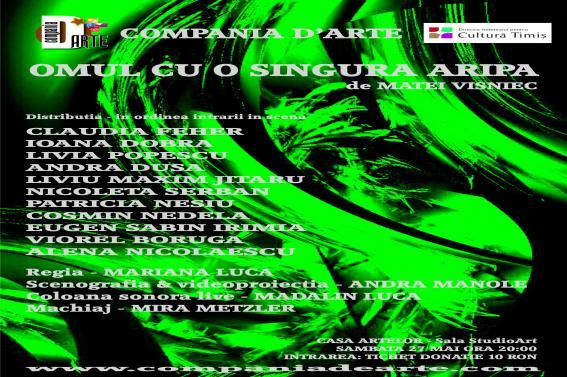 OMUL CU O SINGURA ARIPA de Matei Visniec - spectacol Compania D'arte