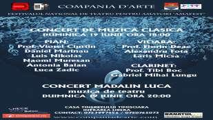 Concerte de muzica clasica si muzica de teatru la AMAFEST